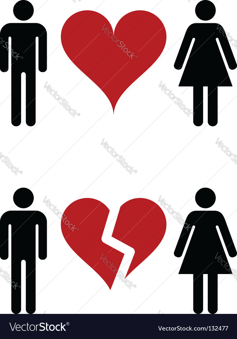 Romantic relationships vector image