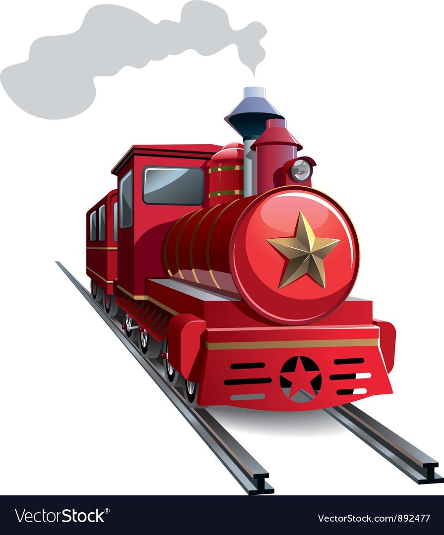Red locomotive vector image