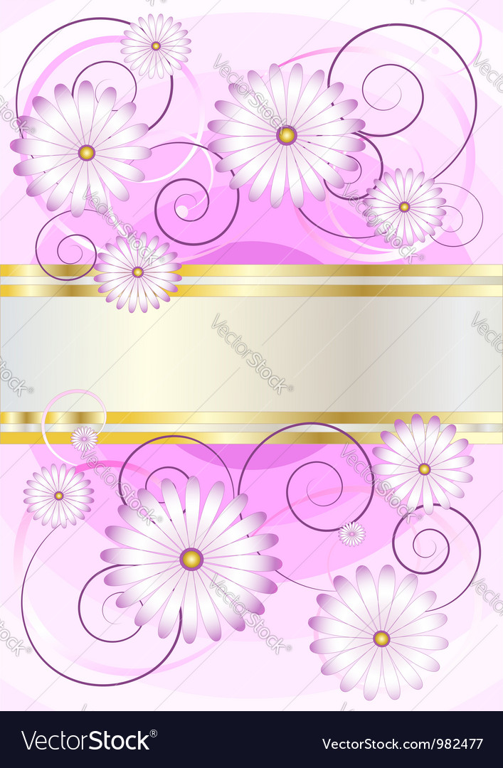 Flowers on background of shades purple vector image