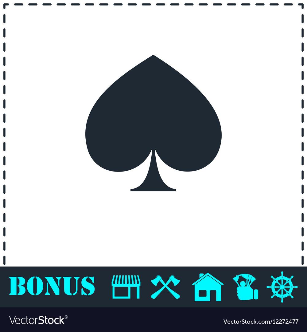 Spade icon flat vector image