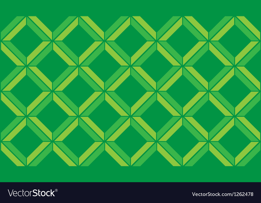 Green Chevron vintage seamless pattern vector image