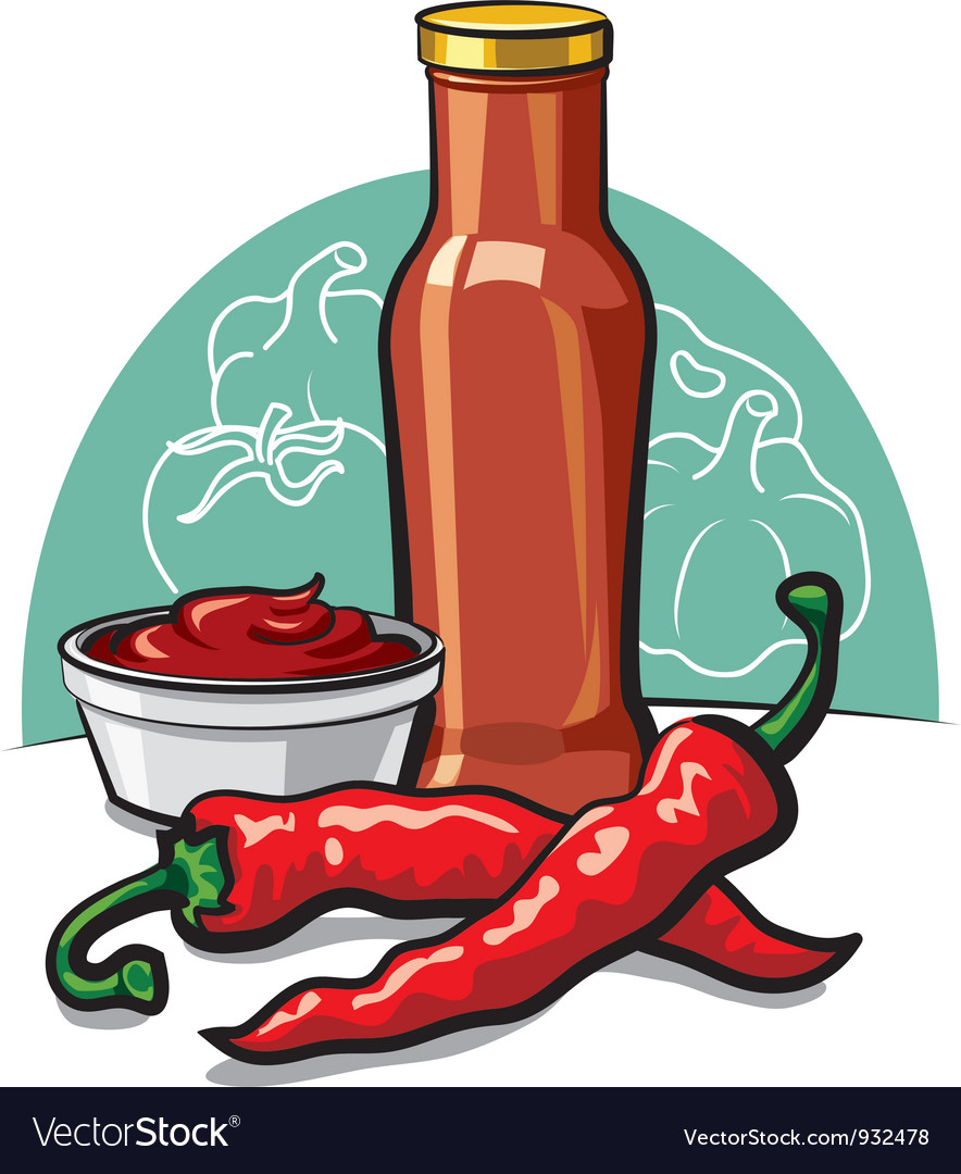 Chilly ketchup vector image