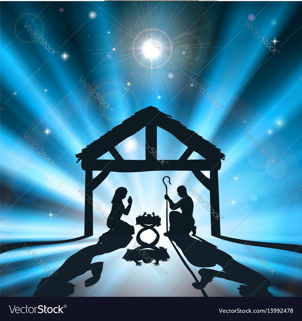The christmas nativity vector image