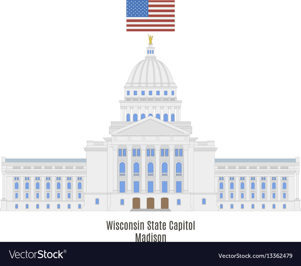Wisconsin state capitol vector image