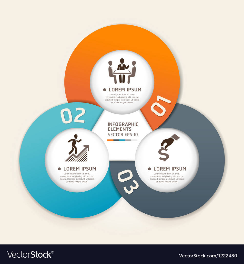 Business infographics elements circle vector image
