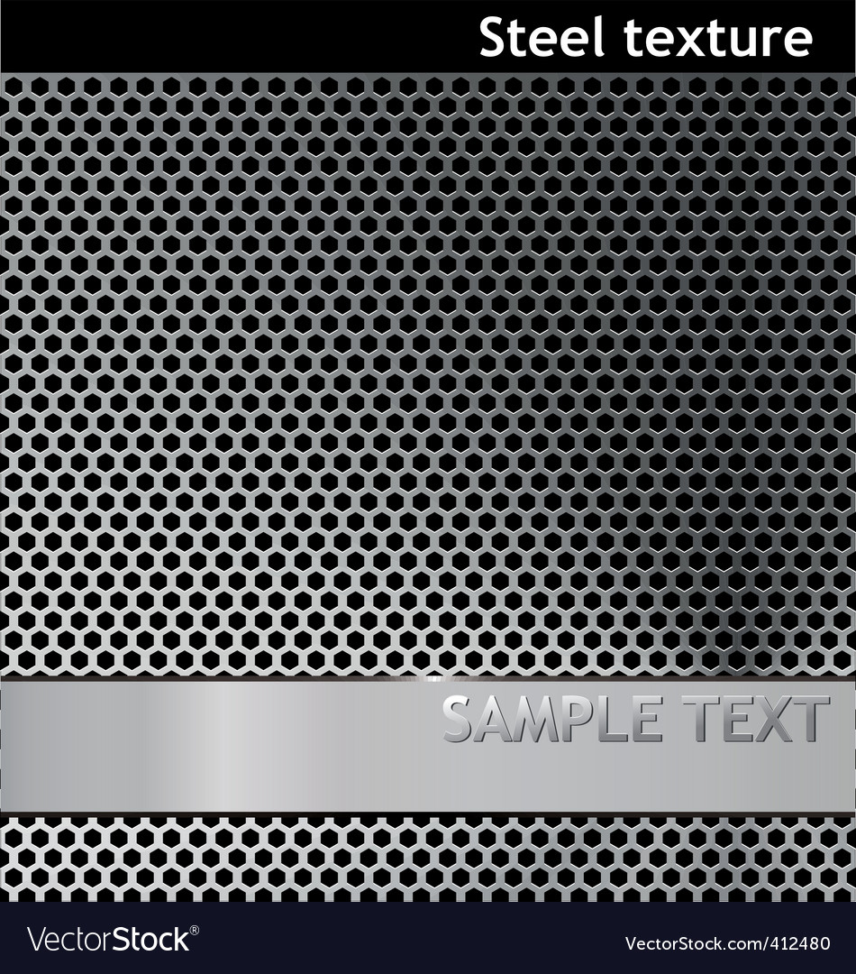 Metal pattern grill texture vector image