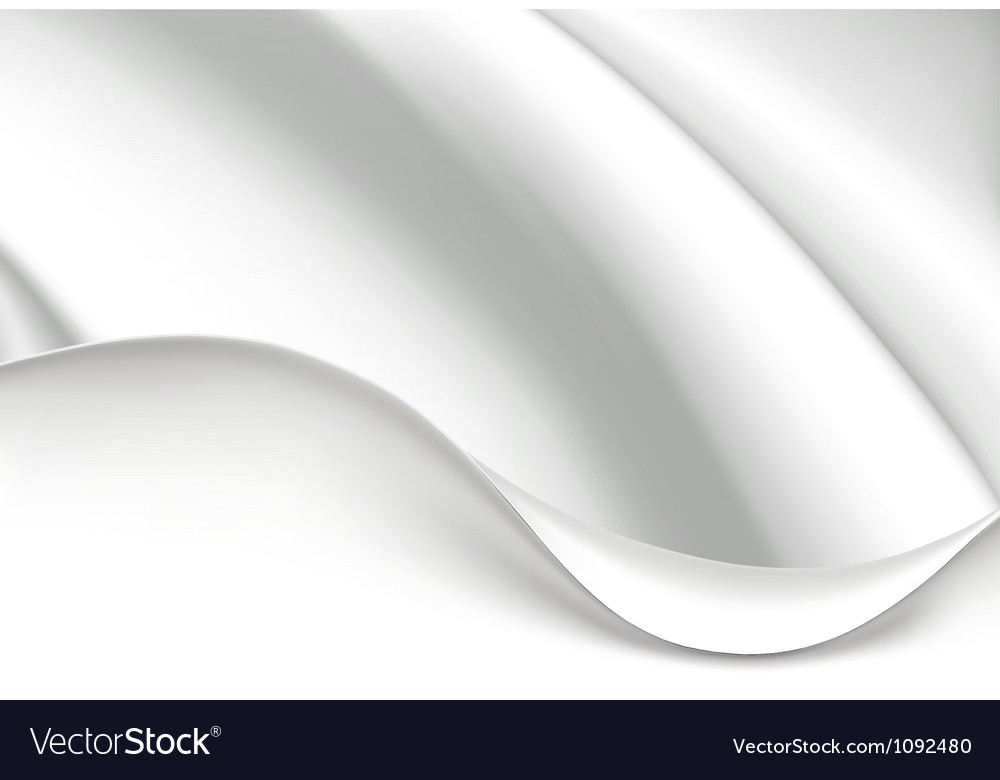 White wave background vector image