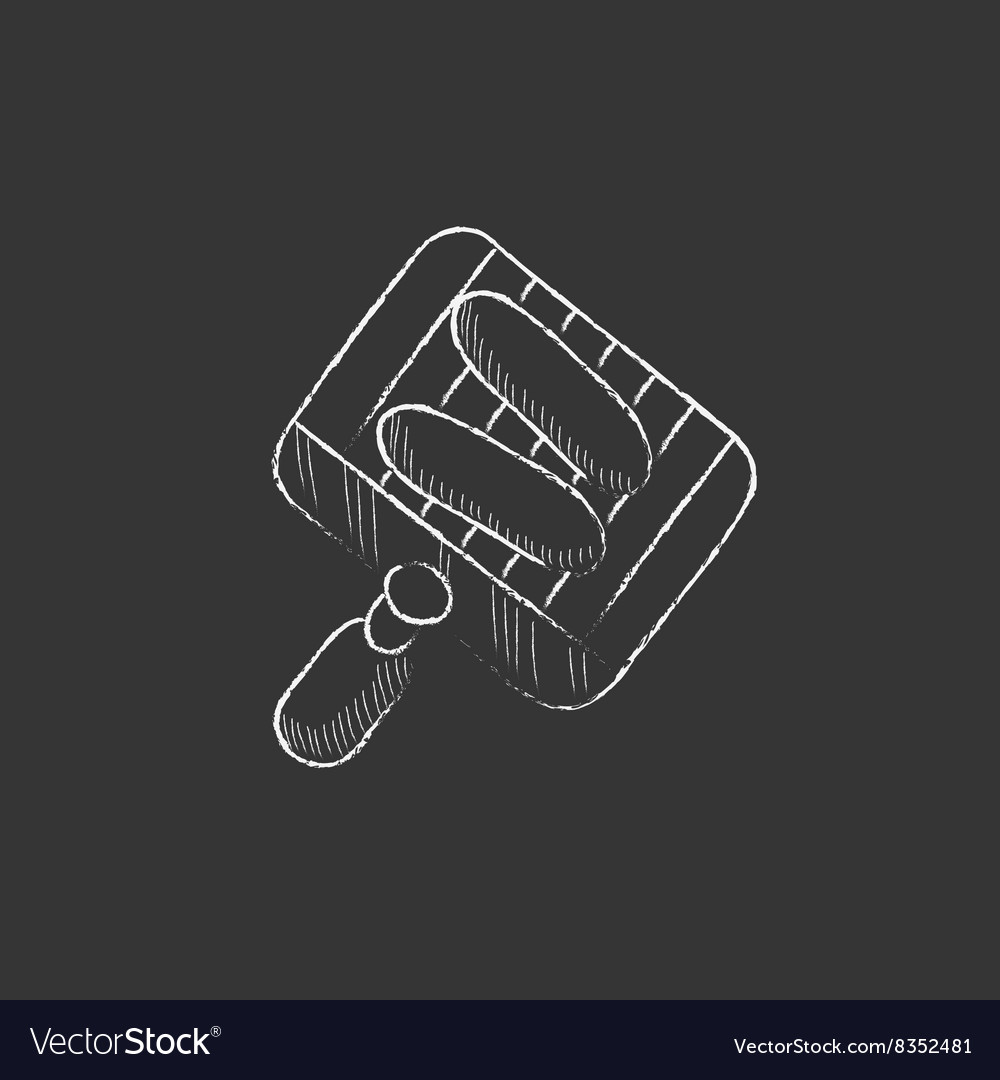 Grilled sausages on grate for barbecue Drawn in vector image