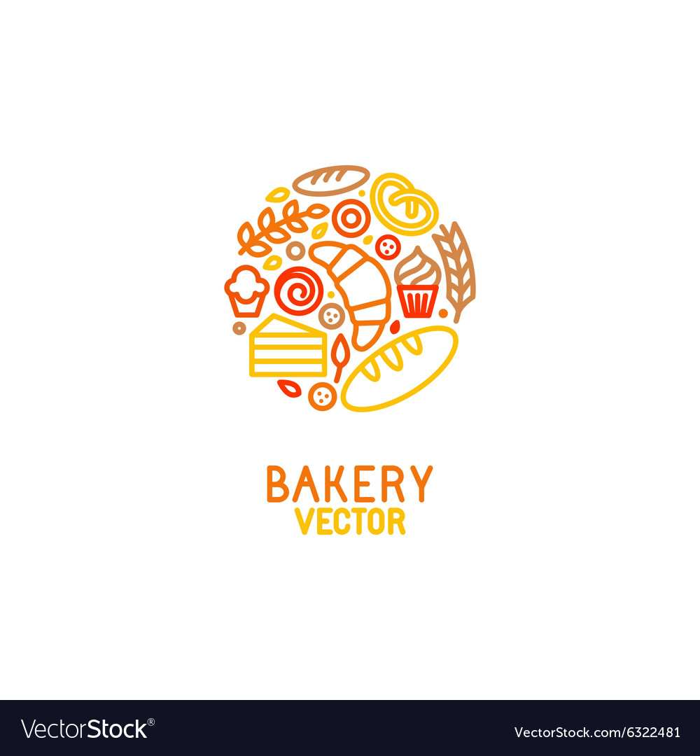 Logo design element with icons vector image