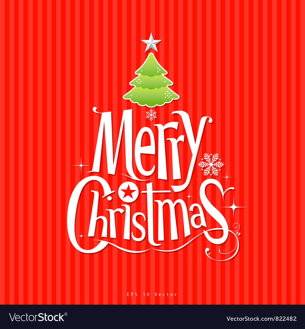 Christmas green tree vector image