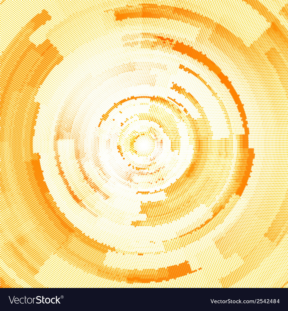 Abstract halftone circle background vector image