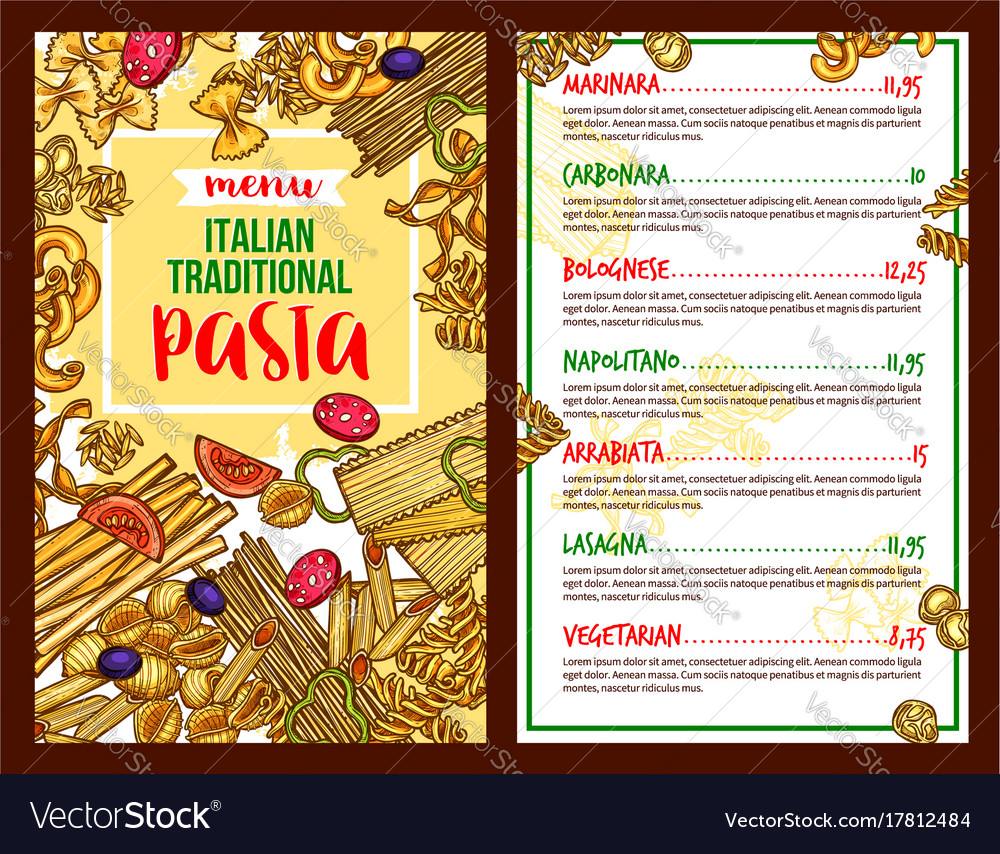 restaurants menu template