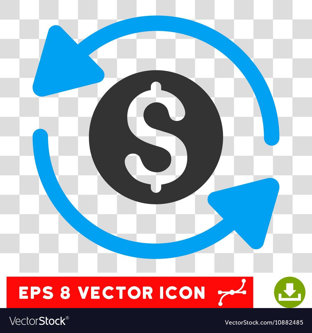 Money Turnover Icon vector image