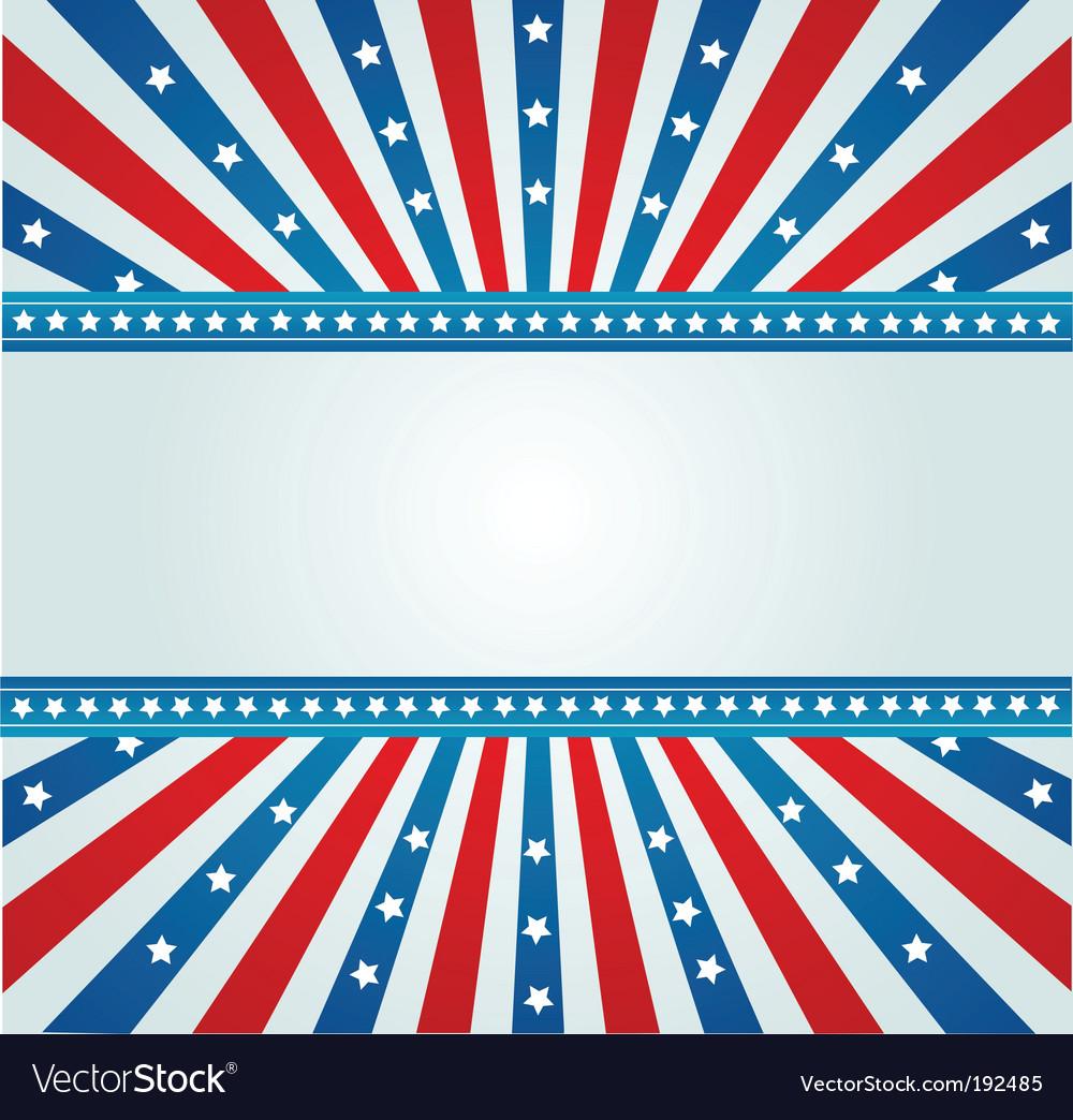 Star spangled banner vector image