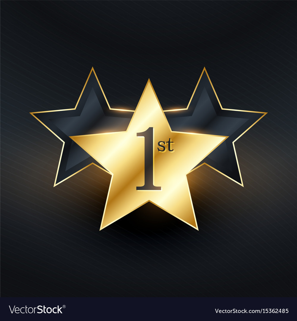 Winner 1st star label design vector image