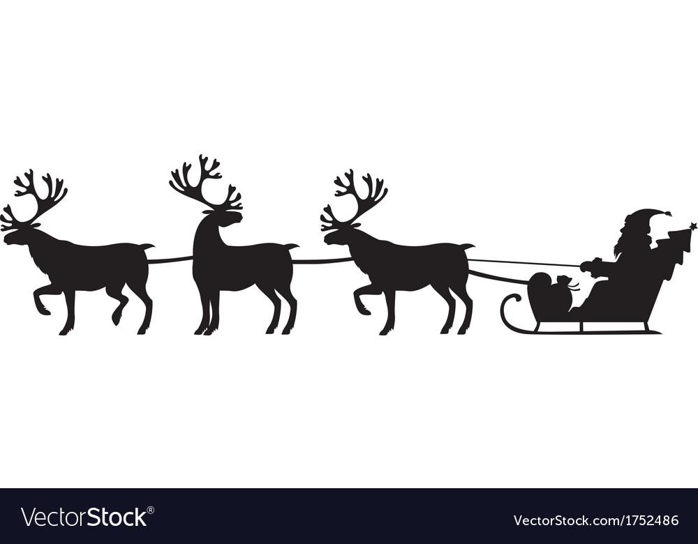 Deer and santa vector image