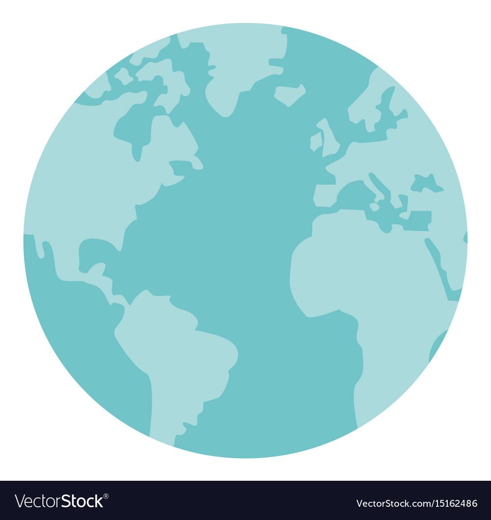 Globe world earth map round icon royalty free vector image globe world earth map round icon vector image gumiabroncs Images