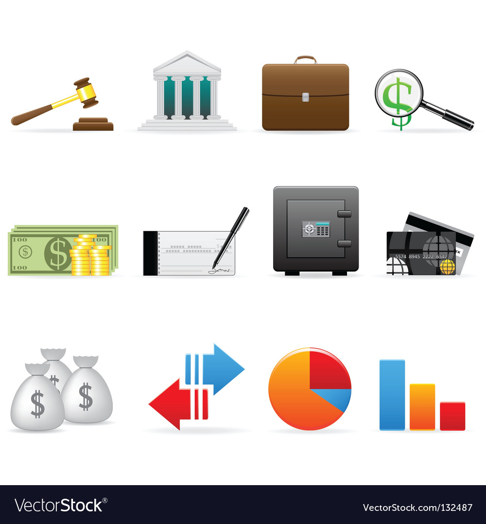 Finance icon set vector image