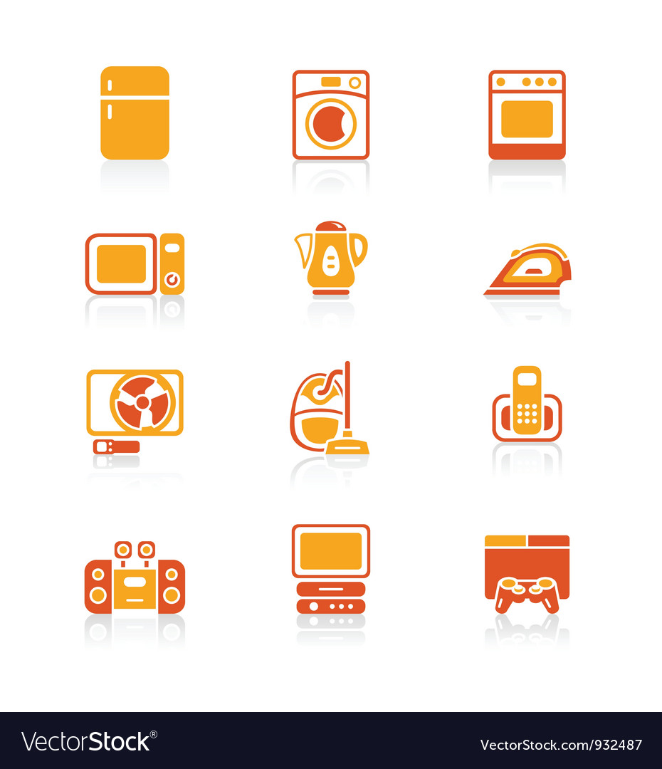 Home electronics icons - JUICY series vector image