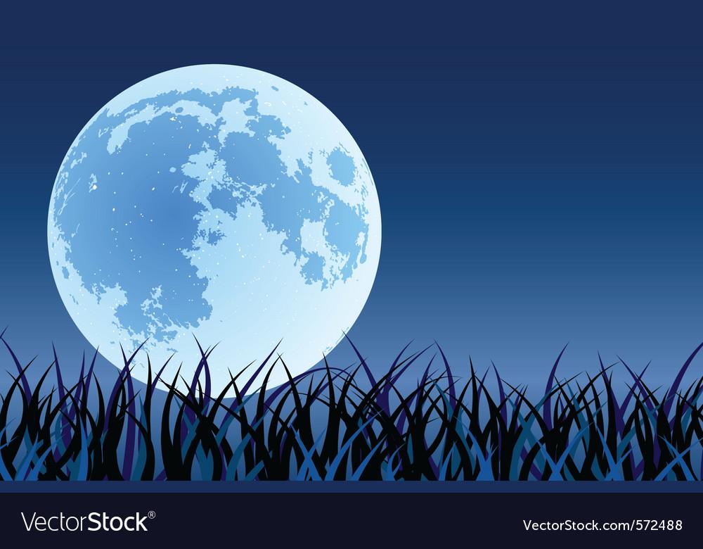 Big moon vector image