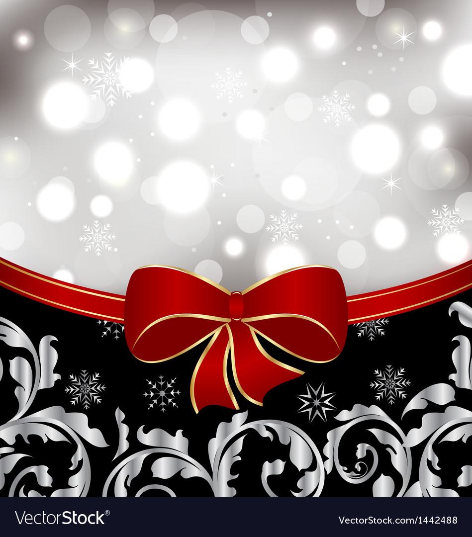 Christmas floral background ornamental design vector image