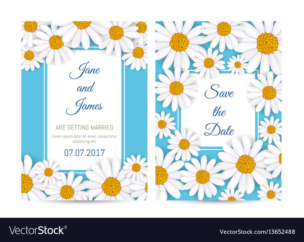Floral wedding invitation with blooming tulip vector image