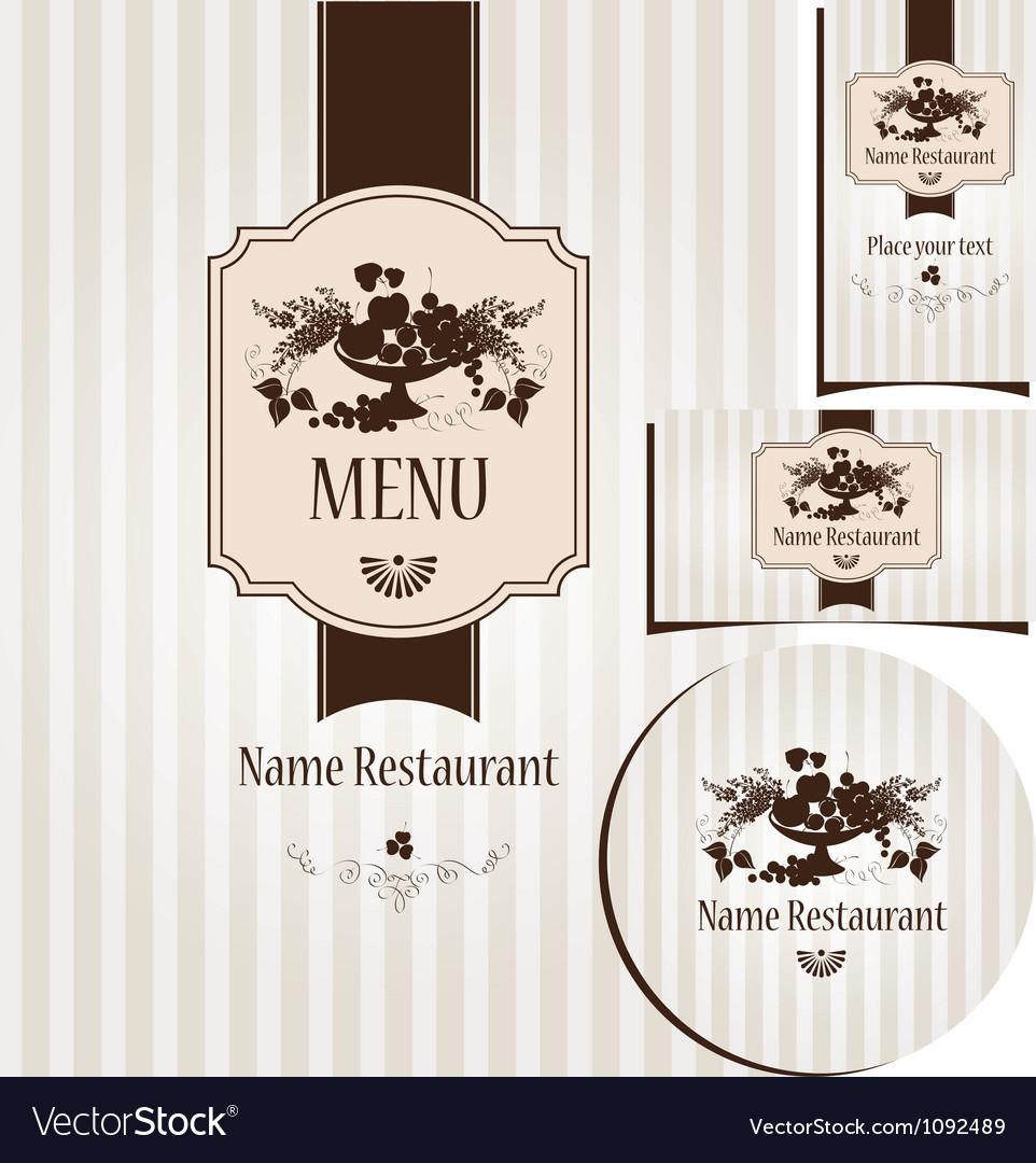 Lilac menu vector image