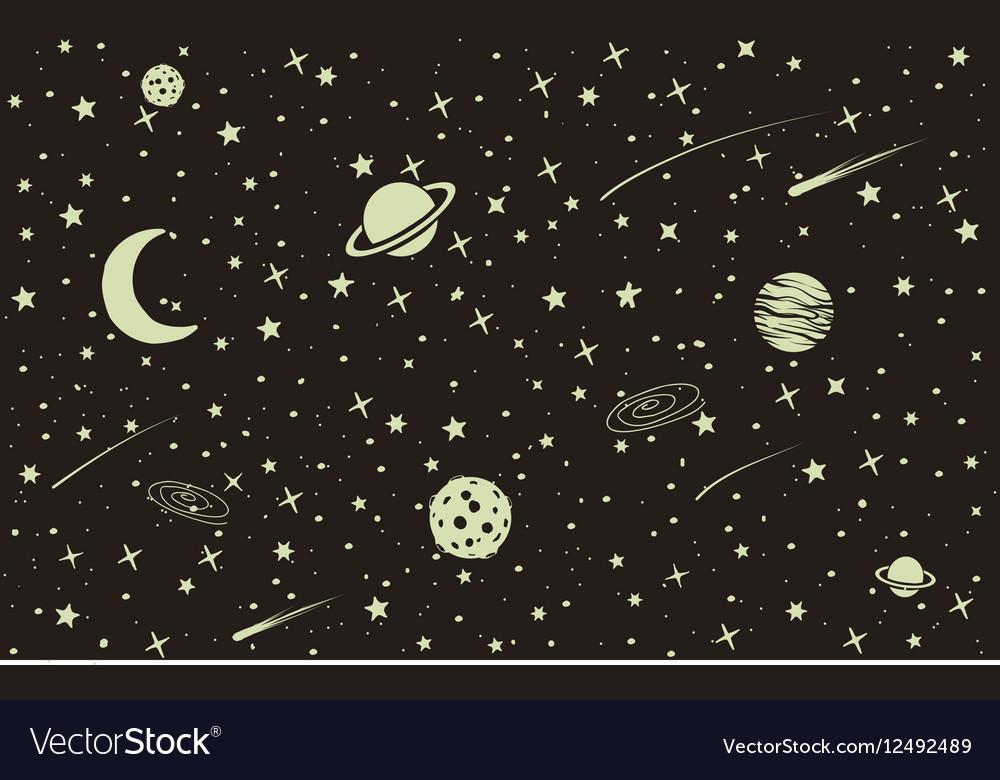 Vintage space background vector image