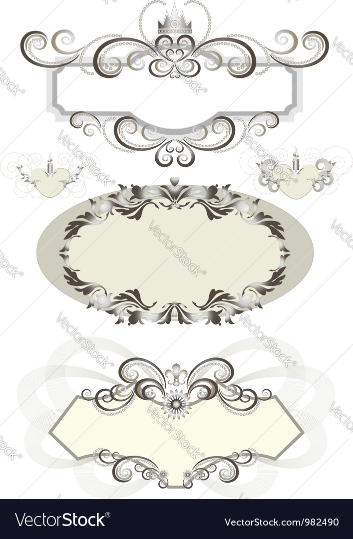 vintage frame decorated with crown vector image