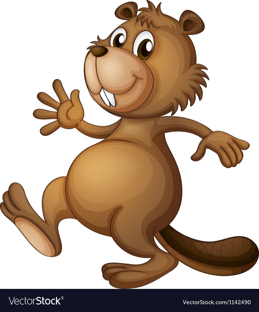 A dancing beaver vector image