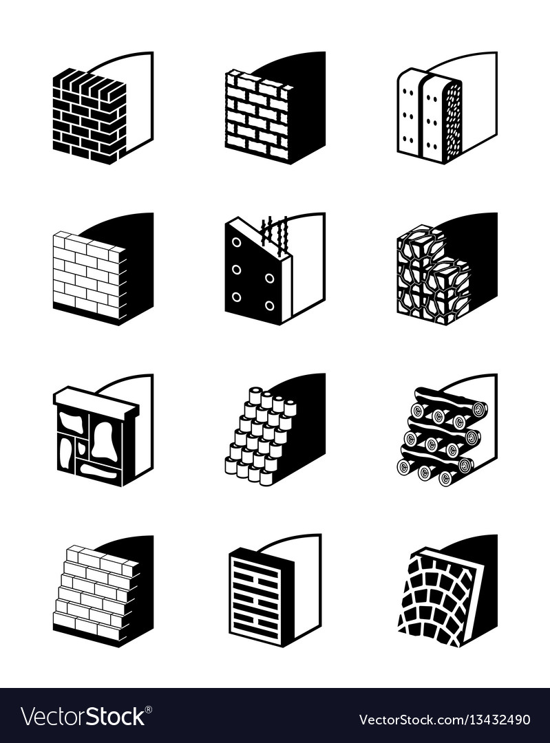 Reinforcing walls in construction vector image