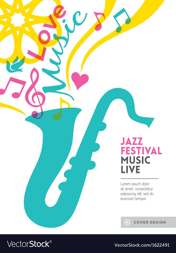 Jazz music festival design background layout vector image