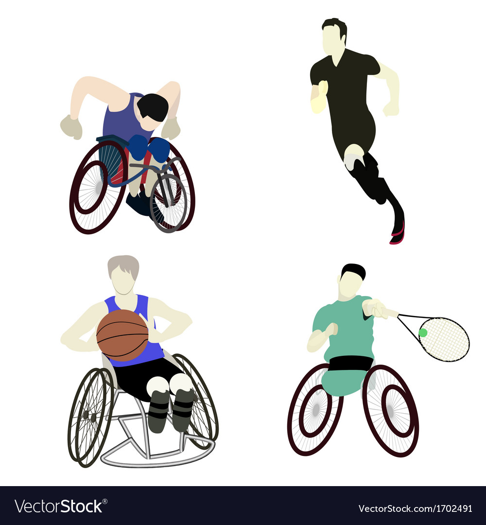 Disabled man sport vector image