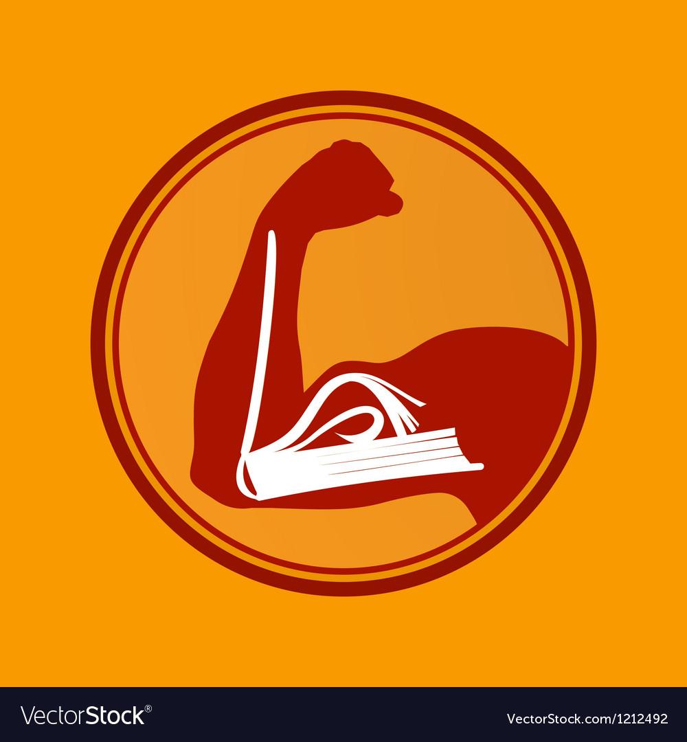 Book power vector image