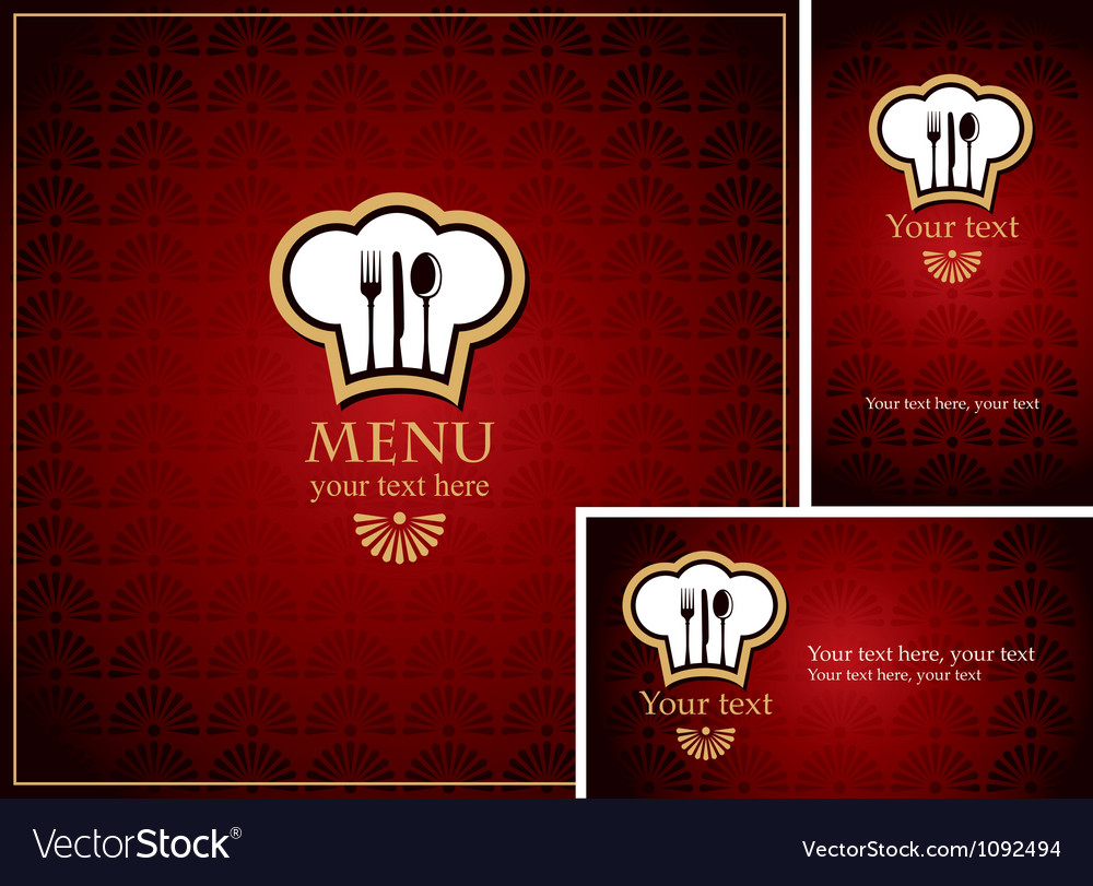 Menu burgundy vector image