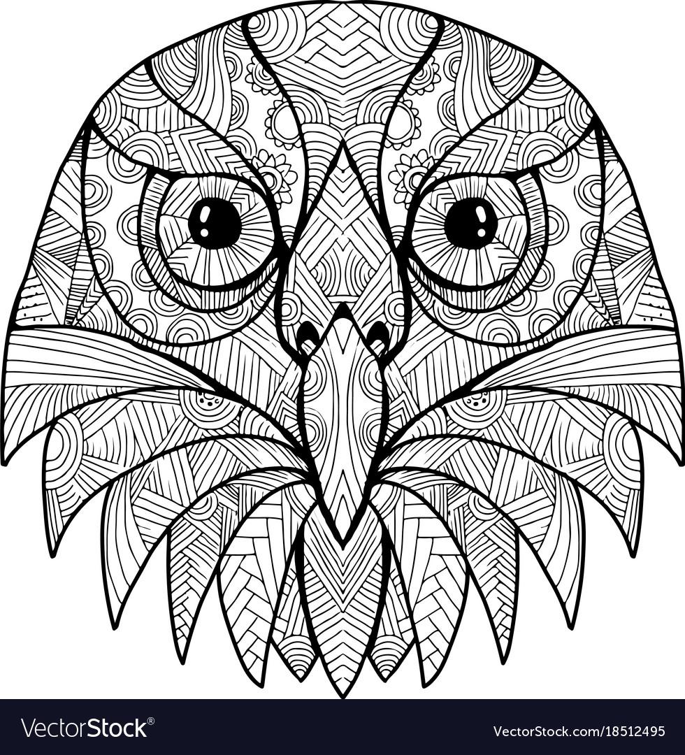 australian barking owl mandala vector image