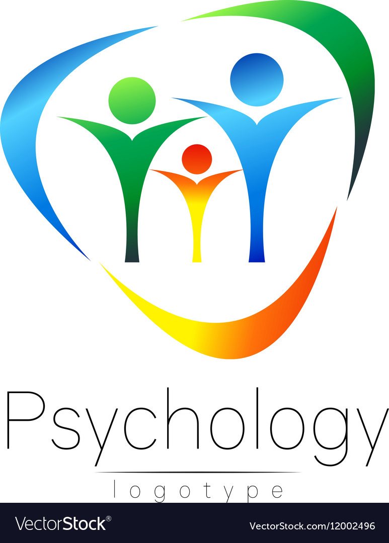 Modern Family logo of Psychology People in a vector image