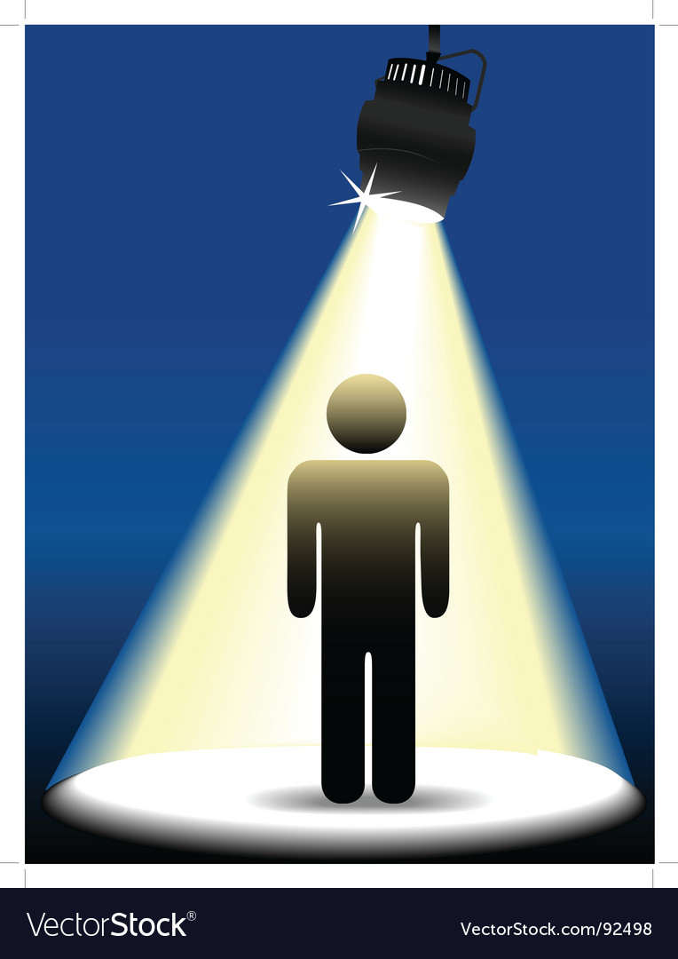 Symbol person on stage vector image