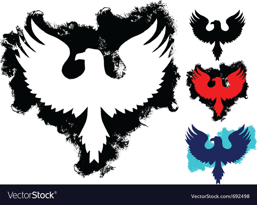 Grunge eagle vector image