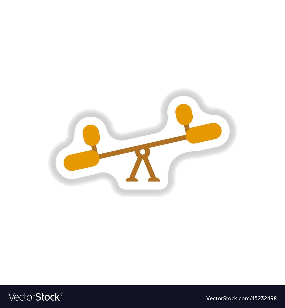 kids playground icons set flat style