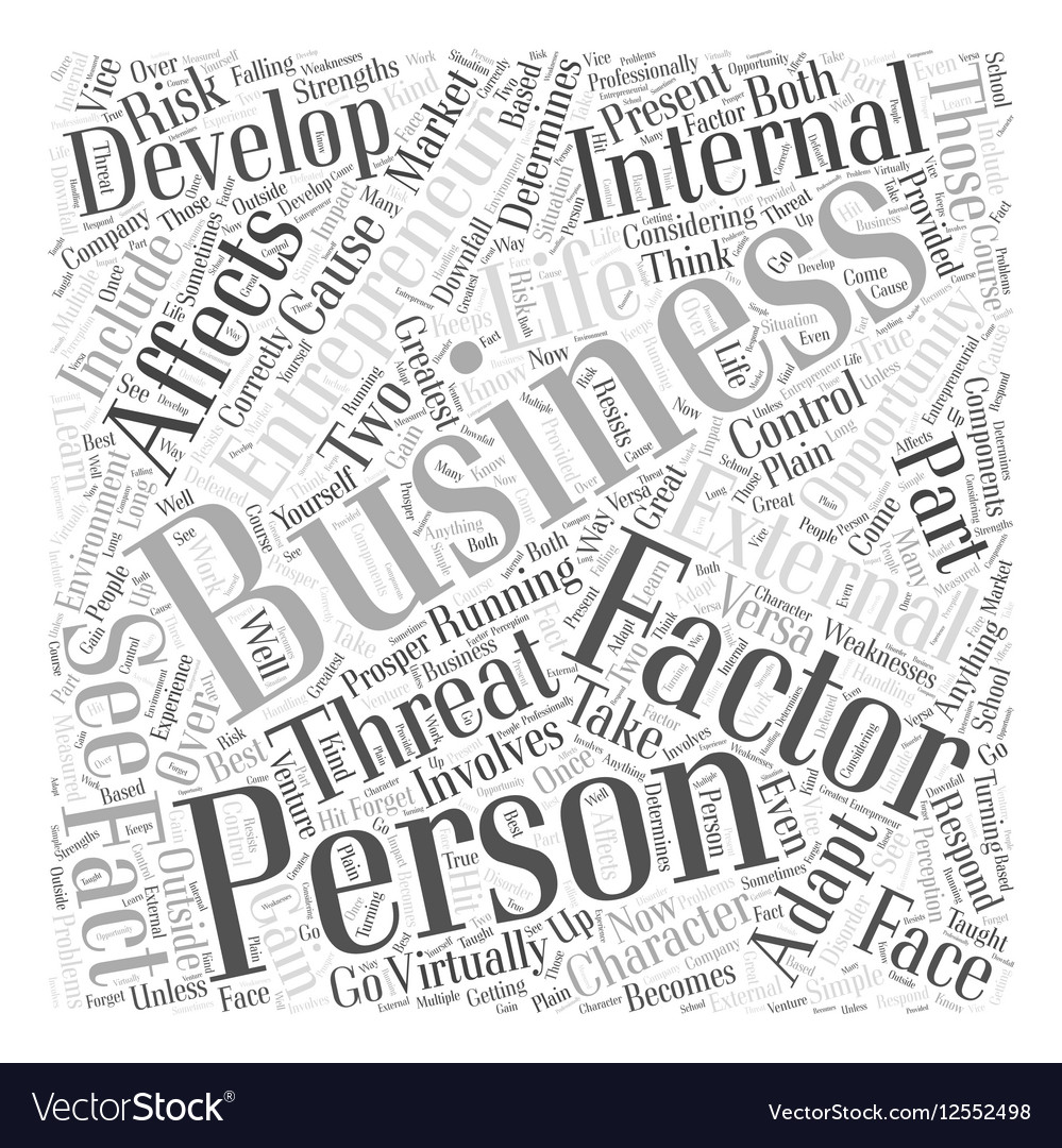 Personal development entrepreneur business Word vector image