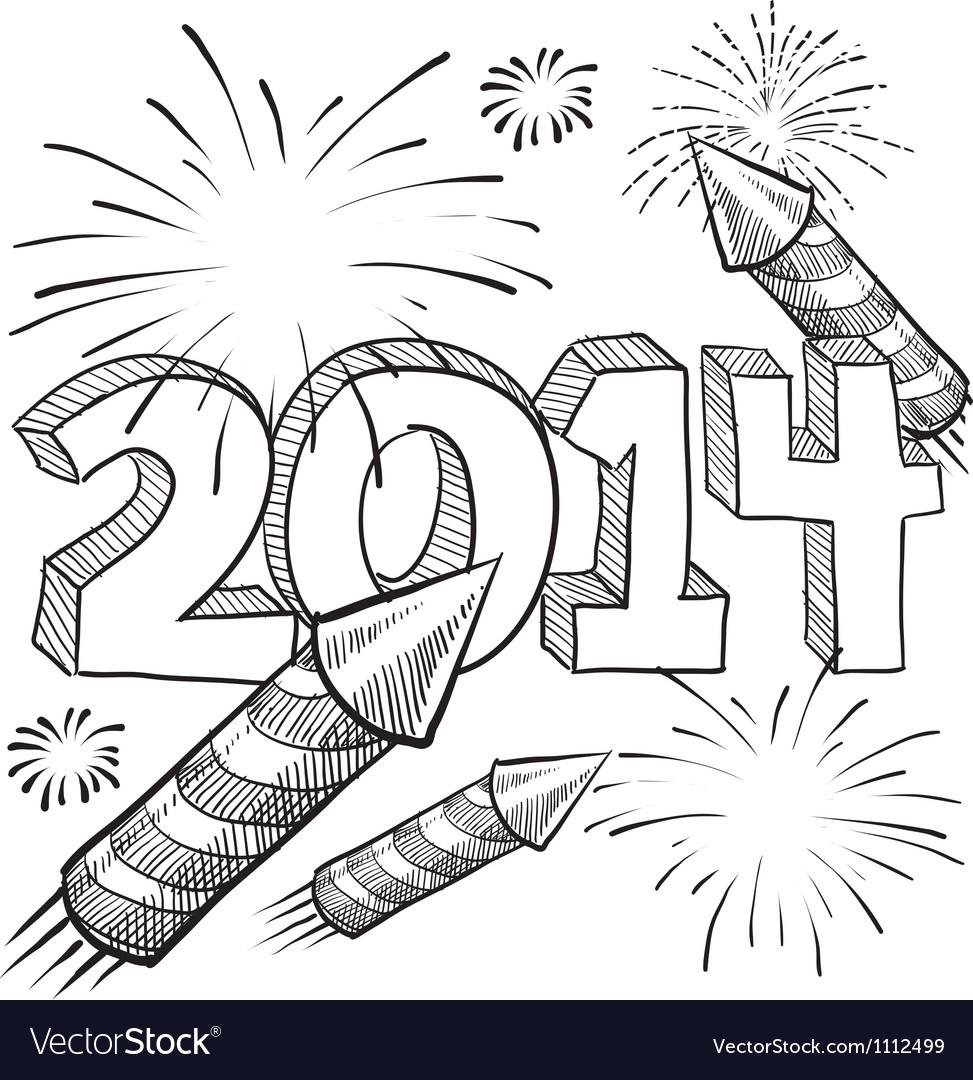 doodle pop fireworks royalty free vector image