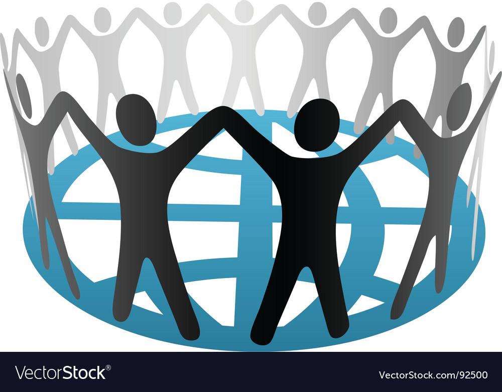 World symbol people vector image