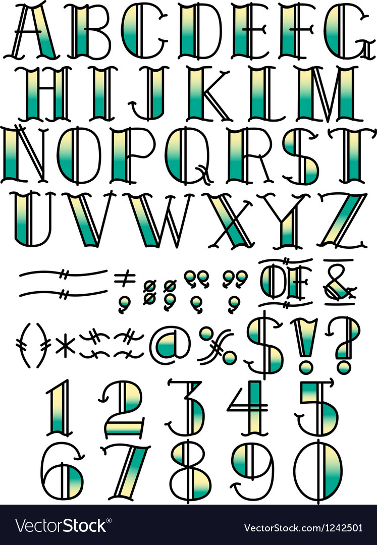 Contemporary Font Typeface vector image