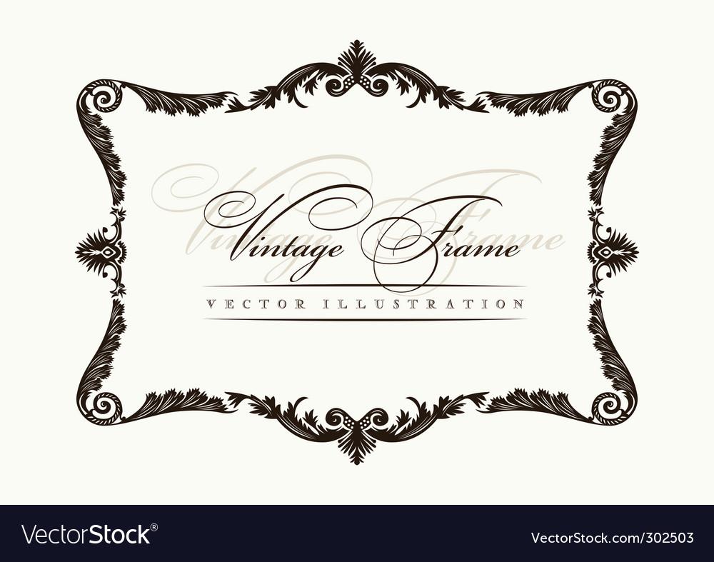 vintage frame decor ornament vector image