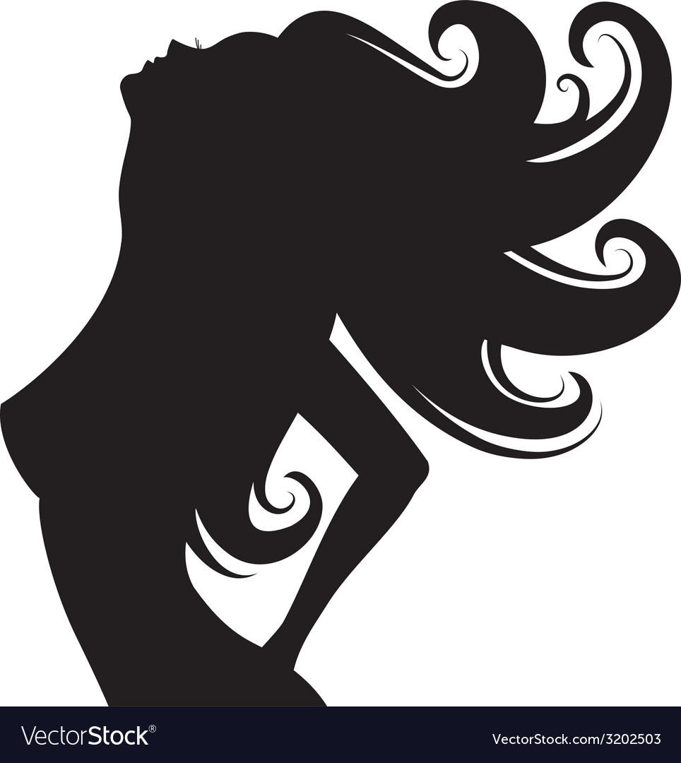 Fashion Girl Silhouette Royalty Free Vector Image