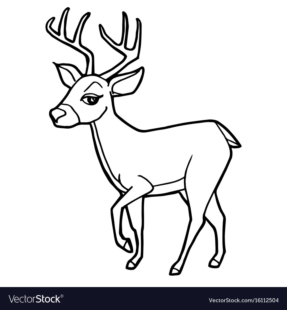 cartoon deer coloring pages - photo#10