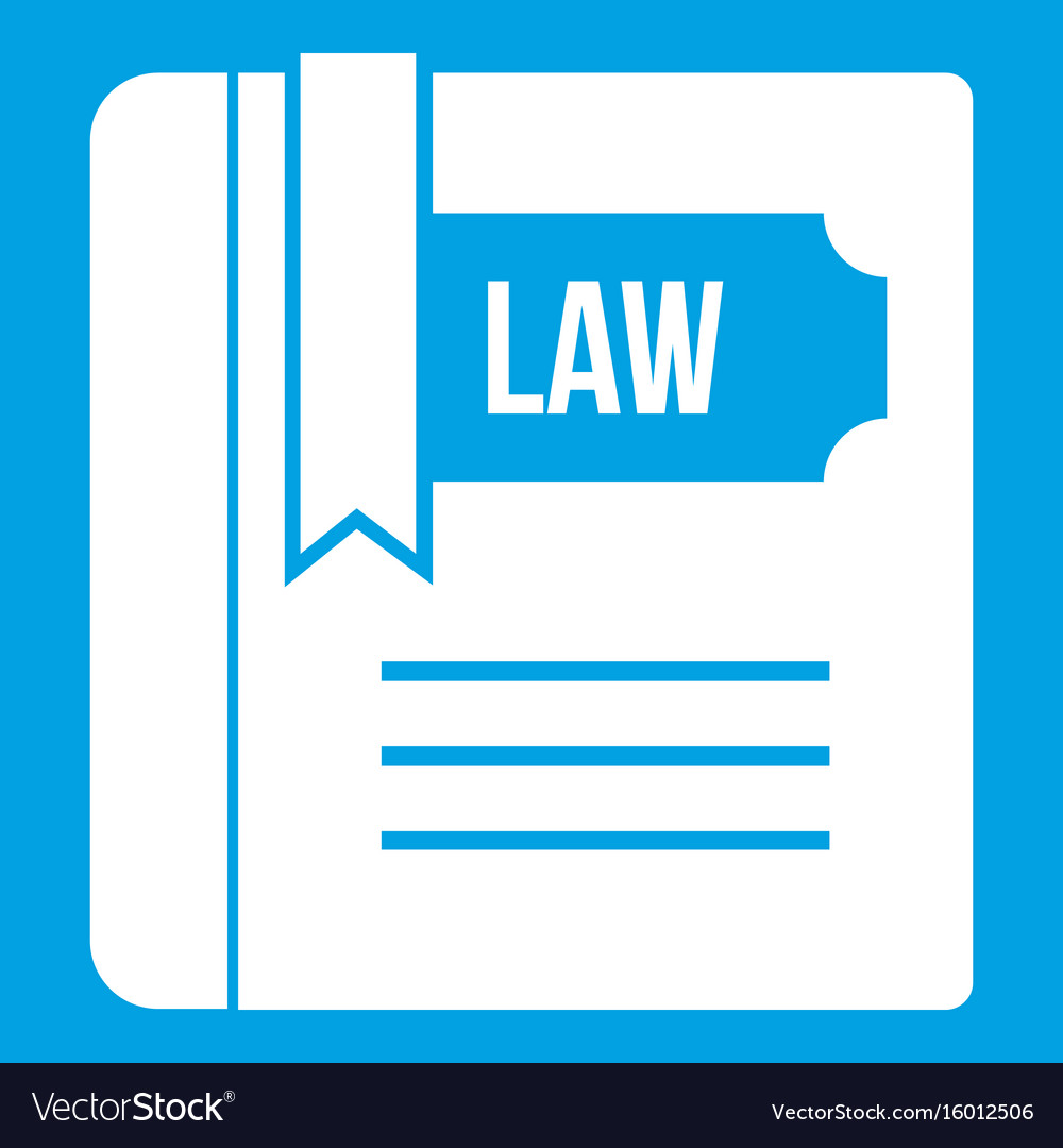 Law book icon white vector image
