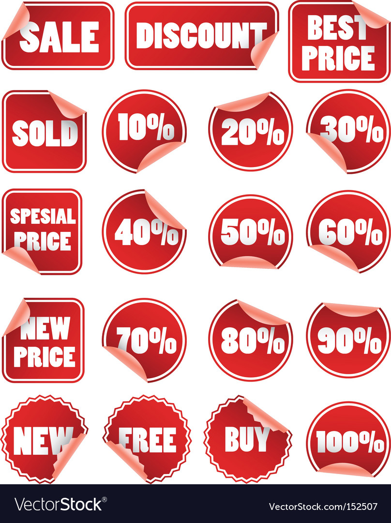 Price labels Vector Image