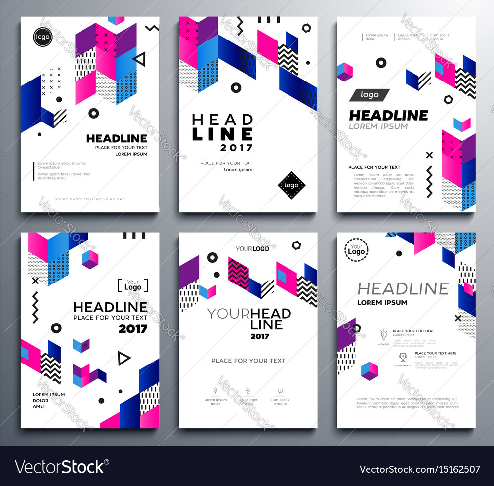Presentation booklet covers template pages set vector image presentation booklet covers template pages set vector image pronofoot35fo Choice Image